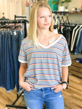 Load image into Gallery viewer, THE CAROLINA BANDED V NECK TOP
