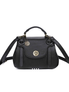 THE LINDA SATCHEL - black