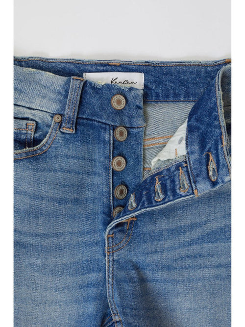 THE BAYLOR HI WAIST BUTTON FLY SKINNY ANKLE DENIM