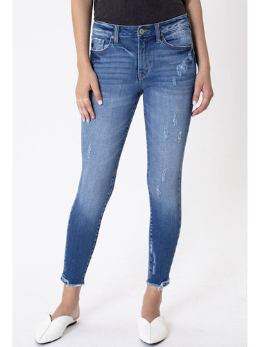 THE CHRISTINA MID RISE SKINNY DENIM
