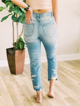 Load image into Gallery viewer, THE HAYLEY HI WAISTED DISTRESSED DENIM