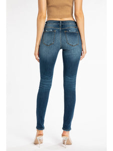 THE MILLIE MID RISE SUPER STRETCHY SKINNY DEMIN