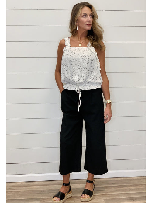 THE ROXIE LINEN BLEND CROPPED CULOTTES - 2 colors