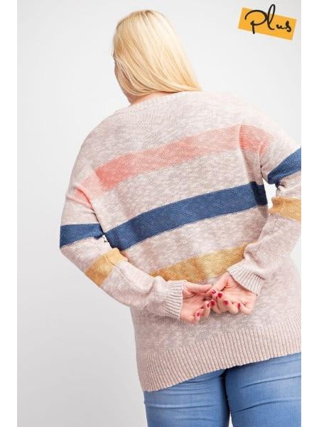 THE BRENDA COLORBLOCK SWEATER