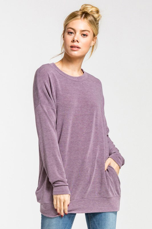 PERFECT POCKETED LIGHT SWEATSHIRT