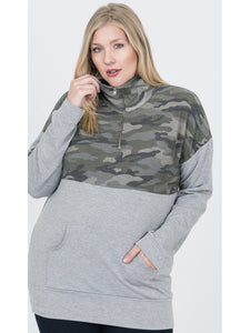 THE ALLISON CAMO 1/2 ZIP