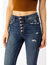 Load image into Gallery viewer, THE AYLA BUTTON FLY DARK WASH SKINNY DENIM