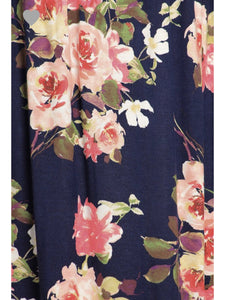 THE CLAIRE FLORAL NAVY DRESS-dress-j boutique