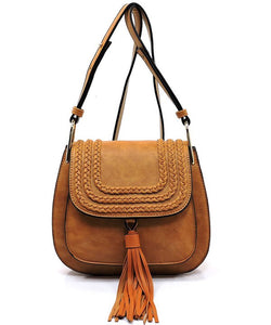 TASSEL SADDLE CROSSBODY BAG - 3 colors