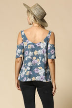 Load image into Gallery viewer, THE JOZI FLORAL COLD SHOULDER