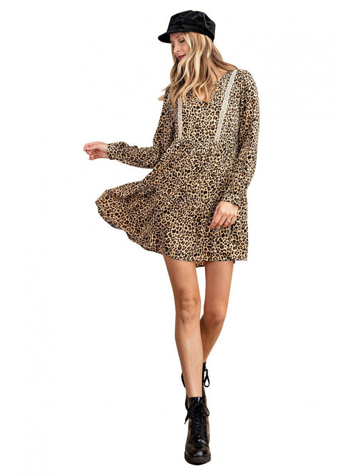 THE AUDREY TIERED ANIMAL PRINT DRESS