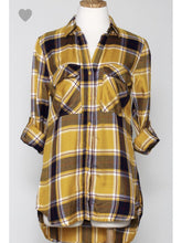 Load image into Gallery viewer, THE DORY PLAID BUTTON UP