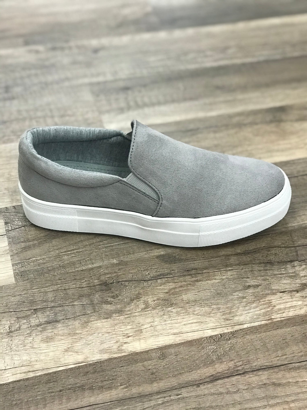 THE HIKE GREY SNEAKER LOAFERS