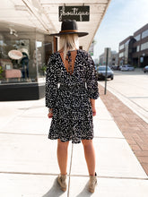 Load image into Gallery viewer, THE LAUREL BLACK SPECKLED DRESS