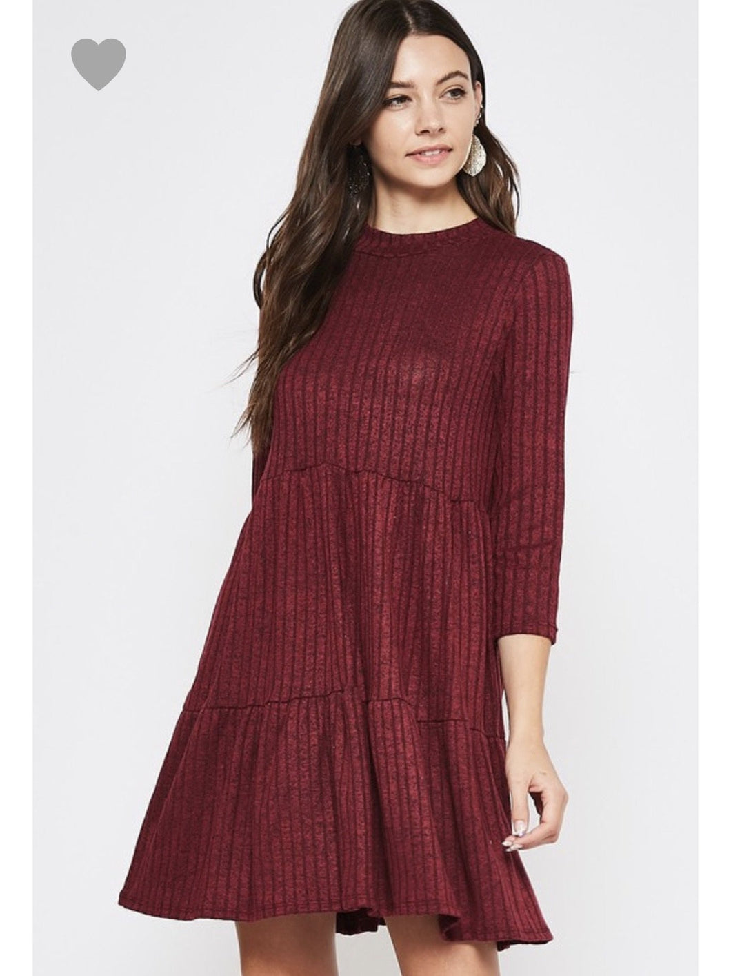THE SUSIE BABYDOLL DRESS - wine