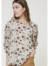 Load image into Gallery viewer, THE GRACE FLORAL RUFFLE BLOUSE
