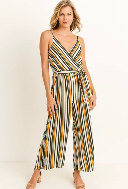 VERTICAL STRIPED JUMPSUIT