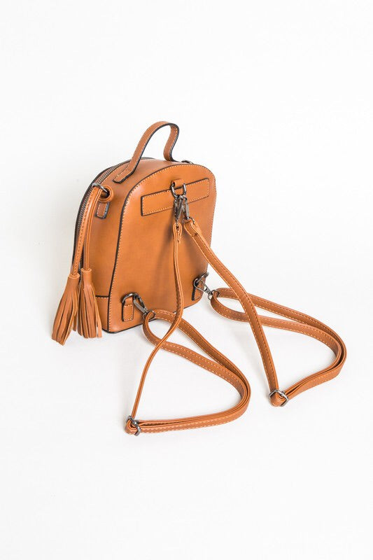 SMALL VEGAN LEATHER BACKPACK PURSE - 2 colors