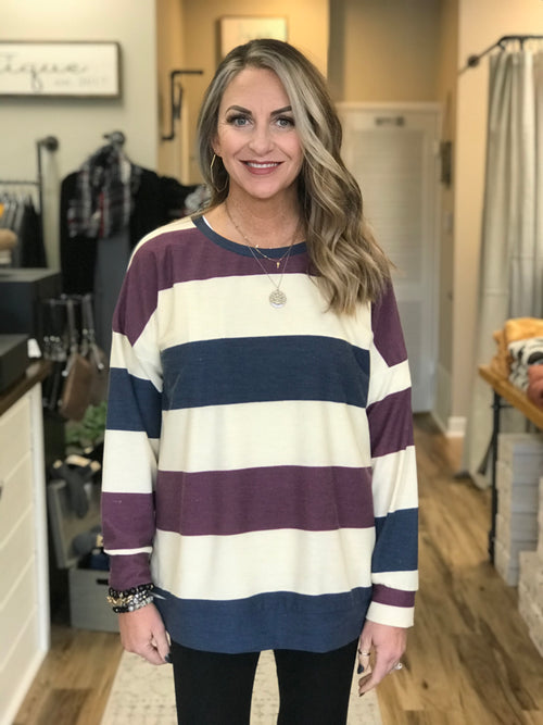 THE GWEN STRIPED SWEATSHIRT