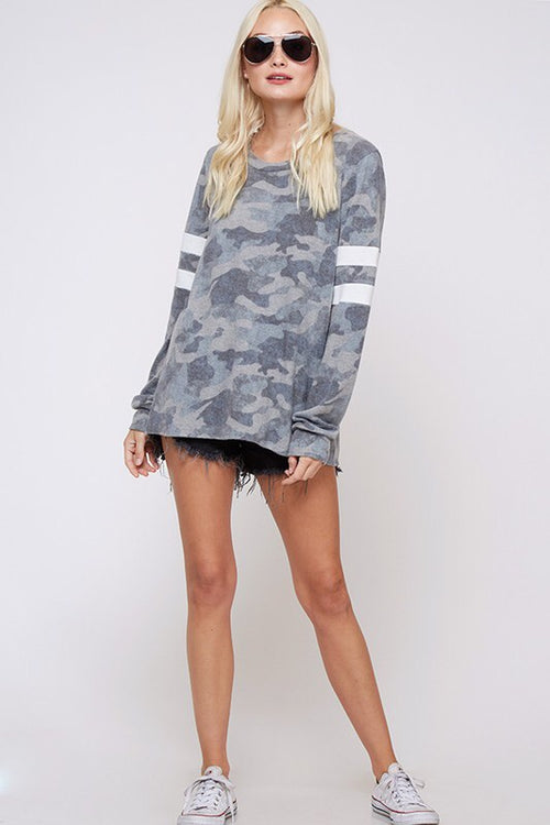 THE CARRIE CAMO LIGHTWEIGHT TOP