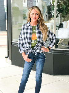 THE CARRIE POCKET FLANNEL TOPS - 2 colors