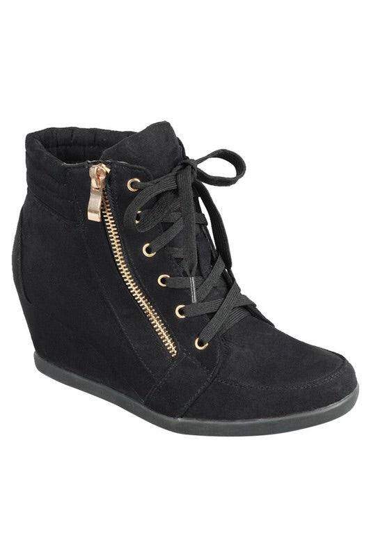 WEDGE SUEDE SNEAKERS
