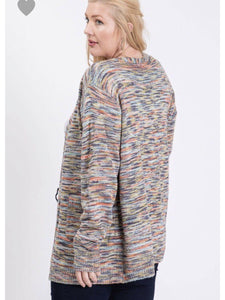 THE JUNE MULTICOLORED OPEN CARDI