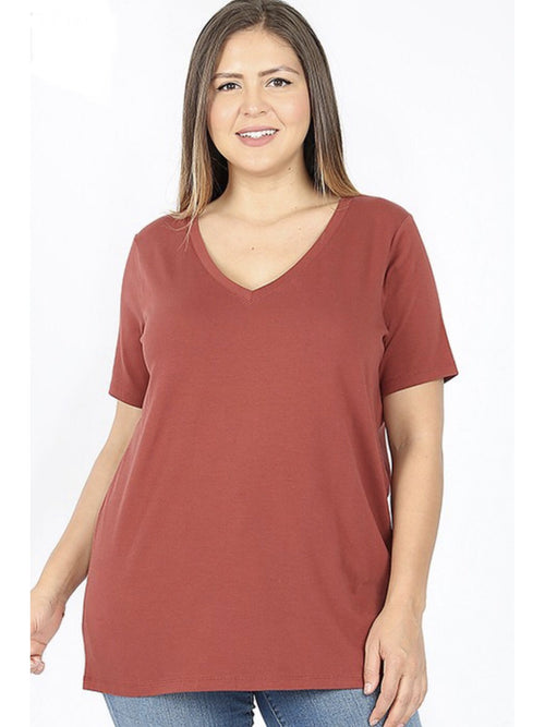 THE LULU COTTON V NECK - 2 colors