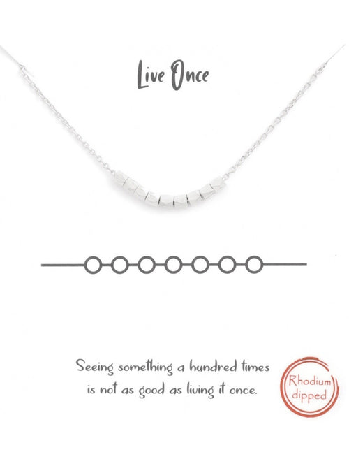 LIVE ONCE BEAD NECKLACE