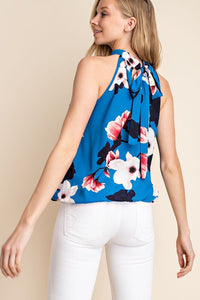 THE DAWN HALTER BLOUSE