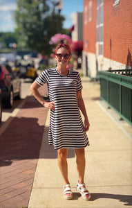 THE SOFIE STRIPED T-SHIRT DRESS