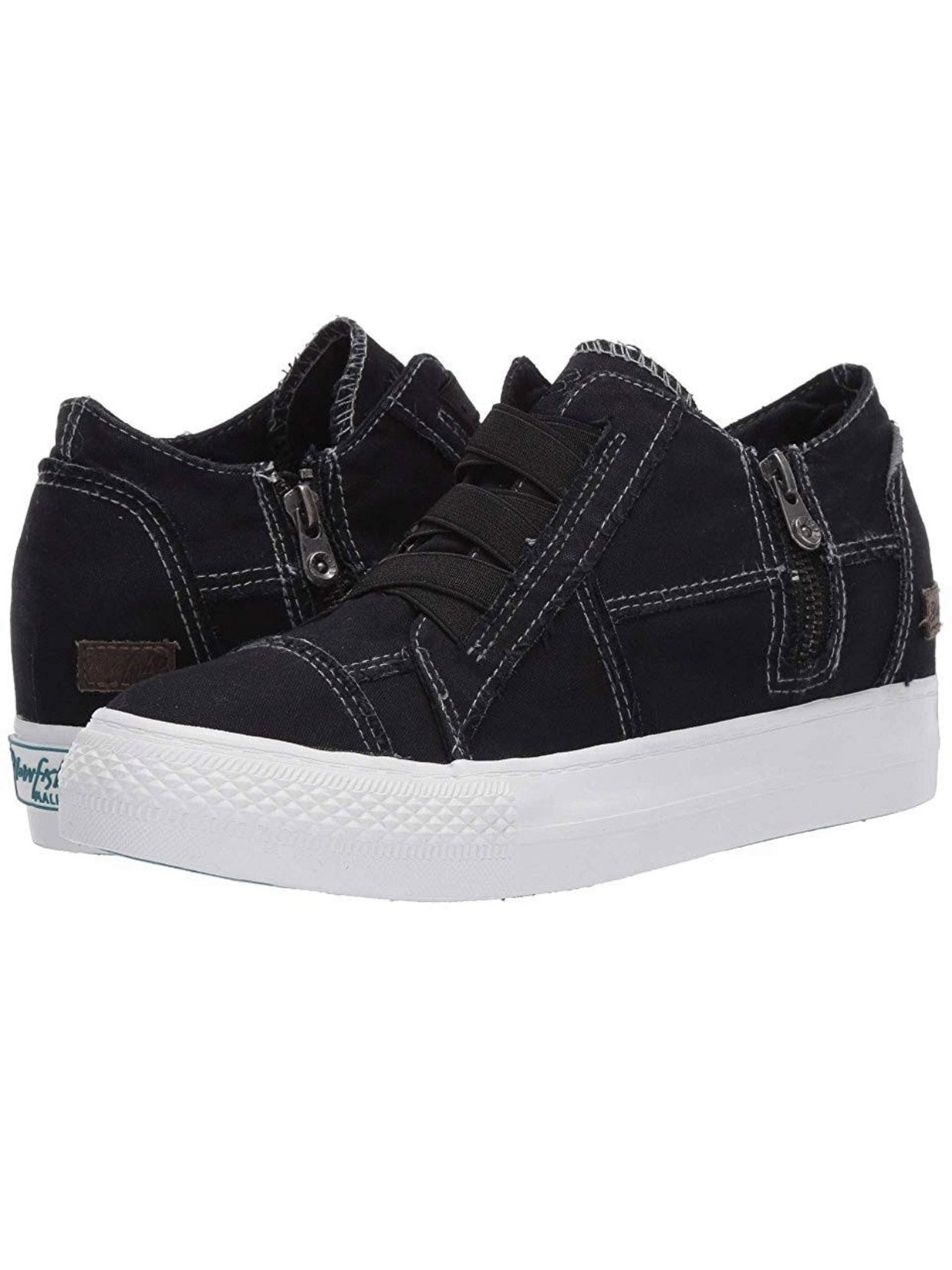 THE BLOWFISH MAMBA WEDGE SNEAKERS - VINTAGE BLACK