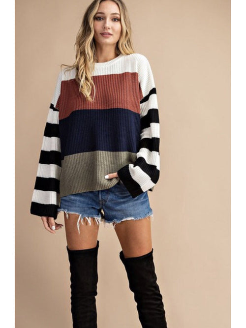 THE KRISTINA COLOR BLOCK SWEATER