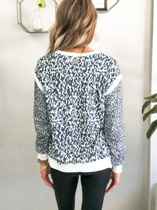 THE CHANDRA SNOW LEOPARD TOP