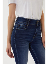 Load image into Gallery viewer, THE NATASHA HI WAIST DARK DENIM