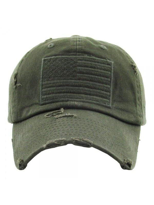 THE FLAG HAT - military green