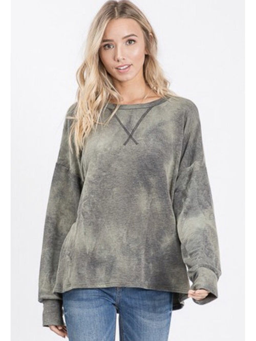 THE JANE VINTAGE TIE DYE PULLOVER