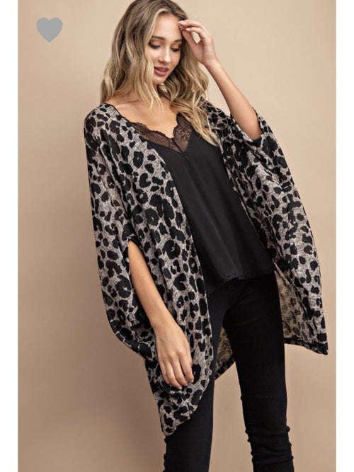 THE NIKKI ANIMAL PRINT CARDI