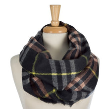 Load image into Gallery viewer, LARGER PLAID INFINITY SCARVES