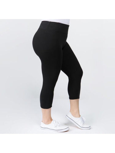 THE MARLEE PLUS SIZE CROP LEGGINGS - numerous colors