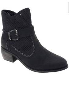THE RIMI BUCKLE ANKLE BOOTS - 2 colors