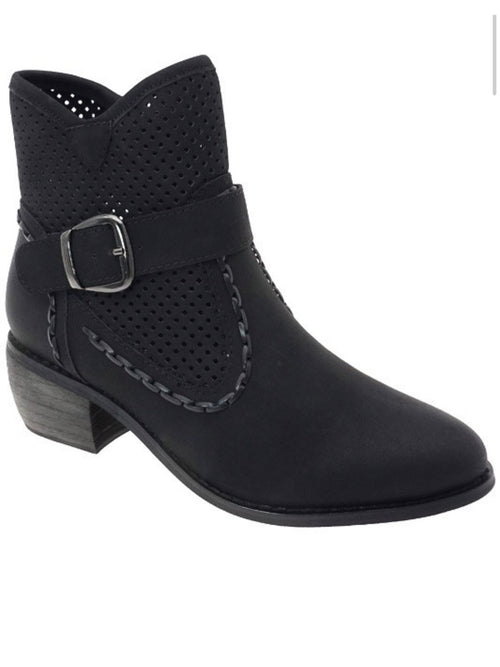 THE RIMI BUCKLE ANKLE BOOTS - 3 colors