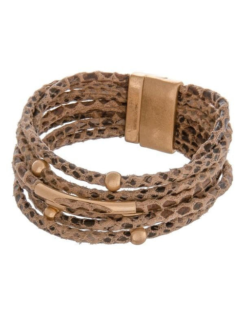 MIXED STRANDS ANIMAL PRINT BRACELETS - 3 COLORS