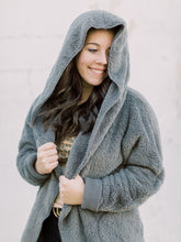 Load image into Gallery viewer, THE KARLY FAUX FUR HOODED CARDIGANS - 3 colors