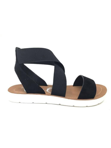 THE VERY G MISTY BLACK SANDALS