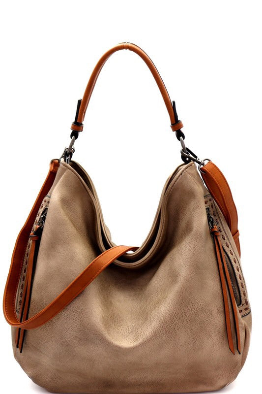 THE HARPER 2 WAY HOBO STYLE PURSE