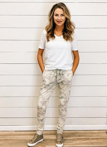 THE KARLY LIGHTWEIGHT CAMO JOGGERS