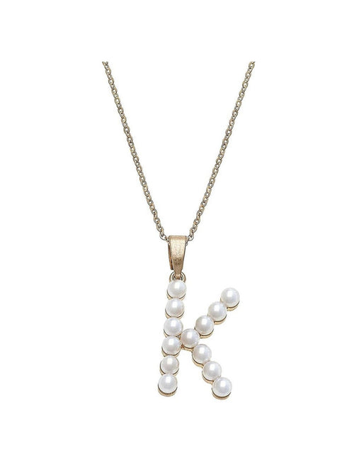 FALLON PEARL INITIAL NECKLACES