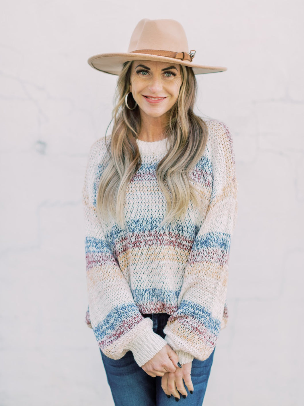 THE KORI MULTI COLOR KNIT SWEATER