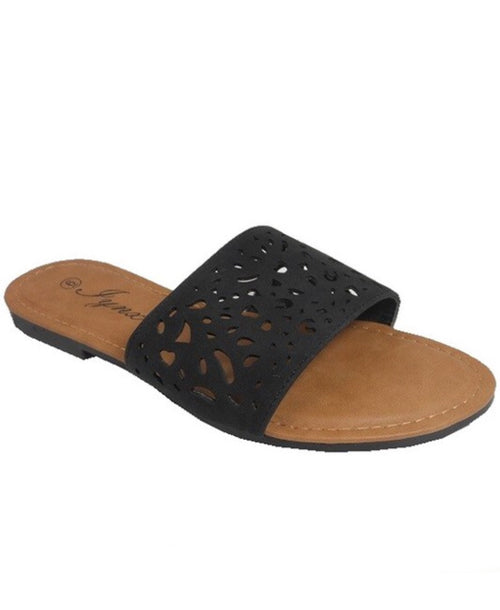 THE SOPHIA CUTOUT SLIDES - 2 COLORS